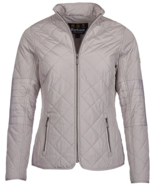 Women's Barbour International Farleigh Quilted Jacket - Opal Grey