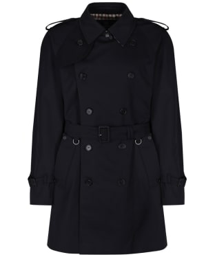 Men's Aquascutum Corby Double Breasted Trench Coat - Navy