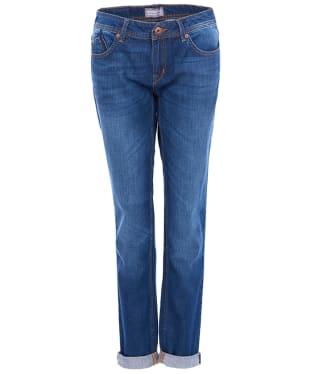 Women's Barbour International Crossover Tomboy Jeans - Indigo Authentic