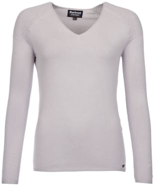 Women's Barbour International Delter Knitted Sweater - Opal Grey