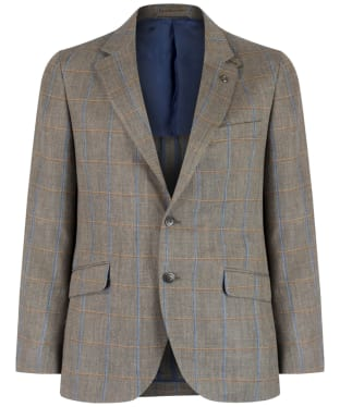 Men's Hackett Multi Twin Windowpane Blazer - Tan / Multi