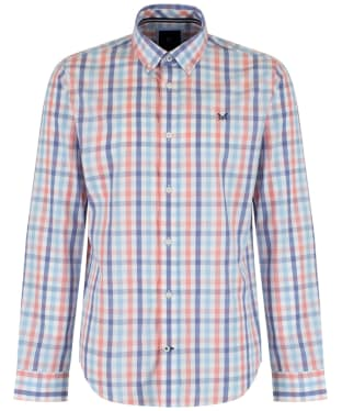 Men's Crew Clothing Perran Slim Fit Shirt - Deep Coral