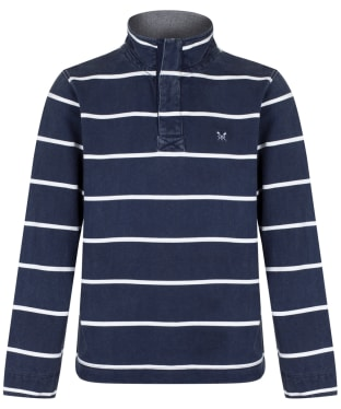Men's Crew Clothing Padstow Pique Sweatshirt - Dark Navy Stripe
