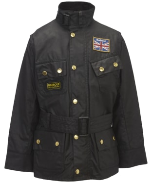 Boy's Barbour Union Jack International Waxed Jacket, 10-15yrs