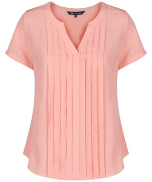 Women's Crew Clothing Pleat Front Top - Bright Clementine