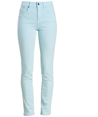 Women's Barbour Essential Slim Trousers - Aqua