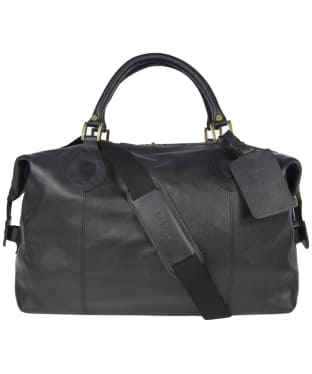 Barbour Leather Medium Travel Explorer Bag - Black