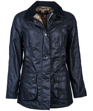 Women's Barbour Beadnell Wax Jacket - Navy