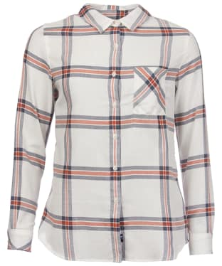 Women's Barbour Brae Check Shirt - Orange Check