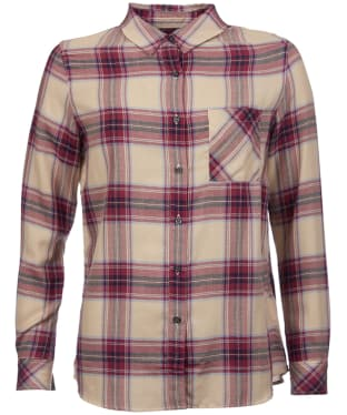 Women's Barbour Brae Check Shirt - Red Check