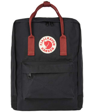 Fjallraven Kanken Backpack - Black / Ox Red