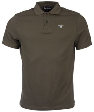 Men's Barbour Sports Polo 215G - Dark Olive