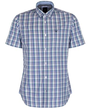 Men's Crew Clothing Short Sleeve Lingfield Shirt - Dark Cornflower