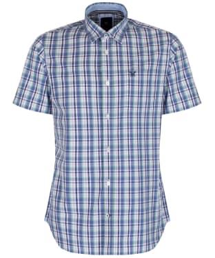 Men's Crew Clothing Short Sleeve Lingfield Shirt - Dark Cornflower