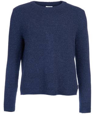 Women's Barbour Stratus X-back Crew Neck Sweater - Indigo Marl