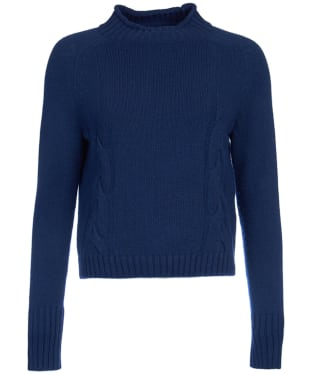 Women's Barbour Droplet Cropped Knit Sweater - Navy