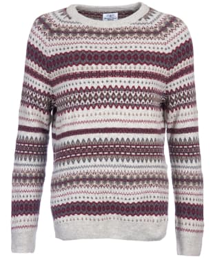 Women's Barbour Felted Fairisle Crew Neck Sweater