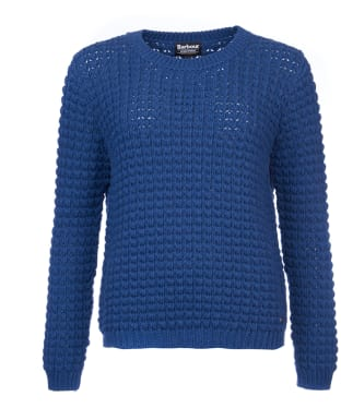 Women's Barbour International Enduro Knit Jumper - Biker Blue