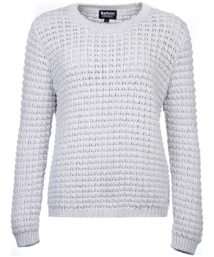 Women's Barbour International Enduro Knit Jumper - Silver Marl