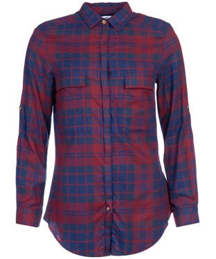 Women's Barbour Highland Shirt - Merlot Check
