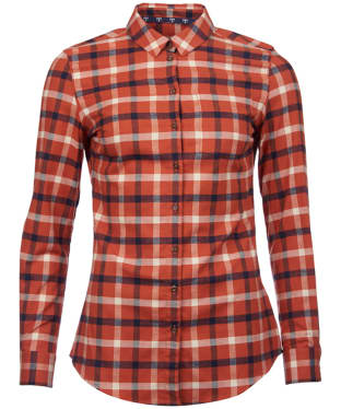 Women's Barbour Epler Shirt - Burnt Orange Check