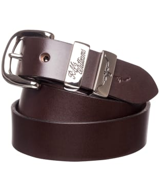 "Men's R.M. Williams 1 1/4"" 3 Piece Solid Hide Belt - Chestnut"