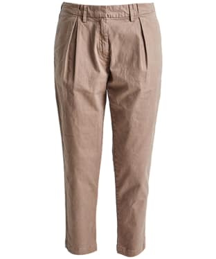 Women's Barbour Pleated Chinos - Stone