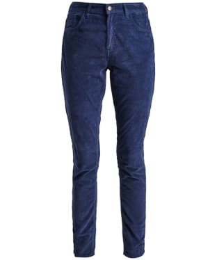 Women's Barbour Aster Cord Trousers - Navy