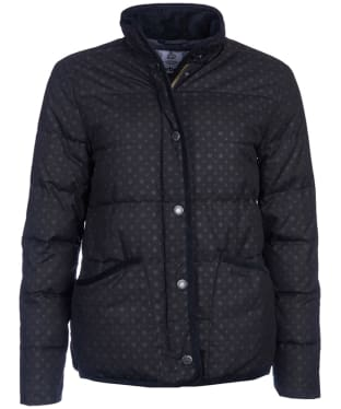 Women's Barbour Waxed Snow Spot Baffle - Navy Snow Spot