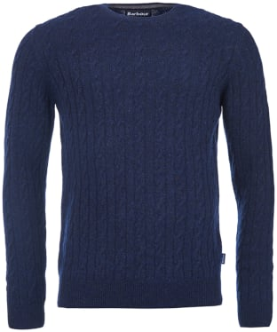 Men's Barbour Essential Cable Crew Neck Sweater - Navy