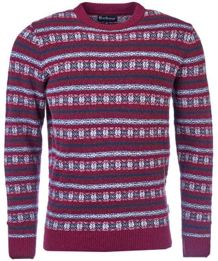 Men's Barbour Harvard Fairisle Crew Neck Sweater - Merlot