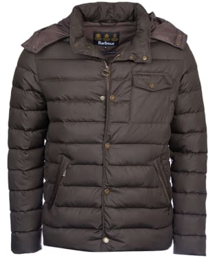 Men's Barbour Cowl Quilted Jacket - Olive