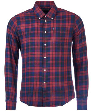 Men's Barbour Highland Check 12 Tailored Shirt - Rich Red Check