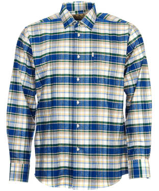 Men's Barbour Roe Shirt - Blue Check