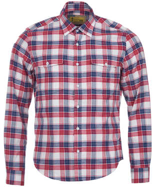 Men's Barbour Steve McQueen Hairpin Shirt - Rich Red Check