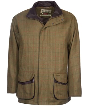 Men's Barbour Moorhen Wool Waterproof Jacket - Olive / Brown Check