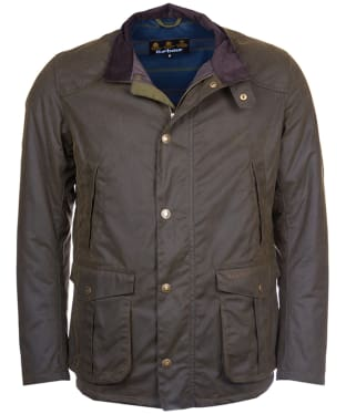Men's Barbour Leeward Wax Jacket - Olive