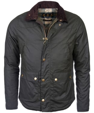 Men's Barbour Reelin Wax Jacket - Sage