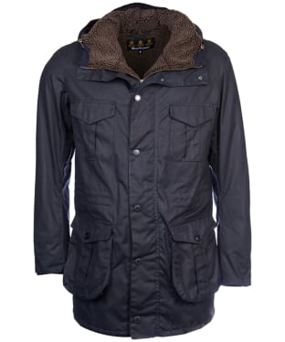 Men's Barbour Oakum Wax Jacket - Navy