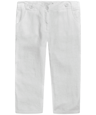 Women's Seasalt Linen Brawn Point Crop Trousers - Salt