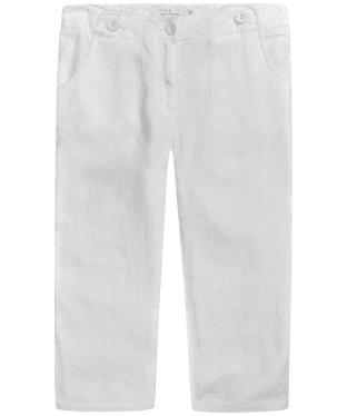 Women's Seasalt Linen Brawn Point Crop Trousers - Salt