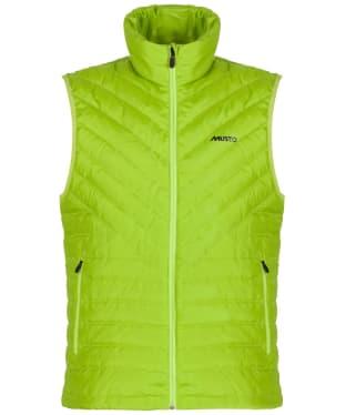 Men's Musto Evo Stratus Down Gilet - Lime Green