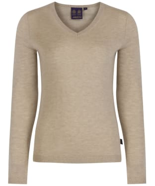 Women's Musto Franklin Merino V-Neck Jumper - Oatmeal