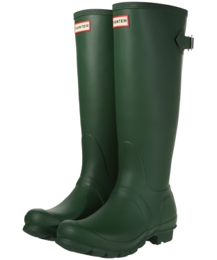 Women's Hunter Original Back Adjustable Wellington Boots - Hunter Green