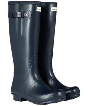 Men's Hunter Field Side Adjustable Neoprene Wellington Boots - Navy