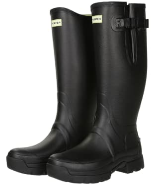 Men's Hunter Balmoral Adjustable 3mm Neoprene Lined Wellington Boots - Black