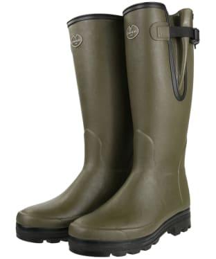 Men's Le Chameau Vierzonord Neo Wellington Boots - 41 cm calf - Vert Chameau