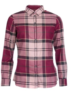 Women's Barbour Nebit Tartan Shirt - Port