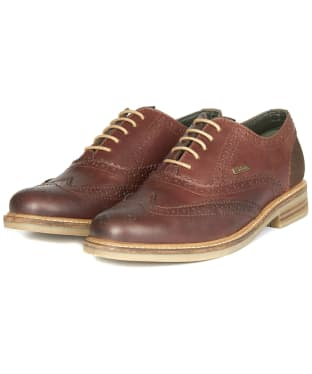 Men's Barbour Redcar Oxford Brogues - Dark Brown Conker