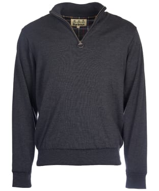 Men's Barbour Gamlin Half Zip Waterproof Sweater - Charcoal